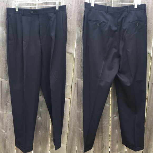 Austin Reed Pants Mens Navy Pleated Dress Pants Euc Poshmark